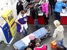 Pregnant Russian woman gives birth at checkouts in supermarket in Omsk region