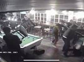 quiet game of pool in the pub turns into a wild west-style saloon brawl