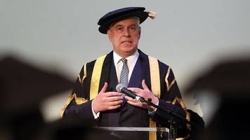 prince andrew should resign from huddersfield role, say students