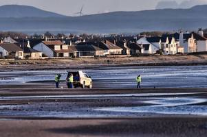 royal navy carry out controlled explosion on suspected bomb at irvine beach