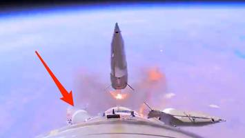 a russian rocket failed with 2 people onboard, and the moment was recorded on video — here's what it shows