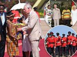 royal tour 2018: charles and camilla arrive in ghana
