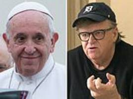 controversial filmmaker michael moore claims pope francis told him 'capitalism is a sin'