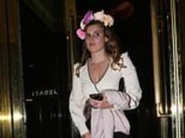 princess beatrice stuns with flower crown as she joins eugenie at lavish mayfair restaurant