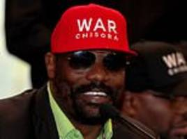 chisora does not believe tyson fury is ready to face deontay wilder