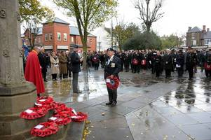 Where are this year's Remembrance Day parades, and which roads will be closed?