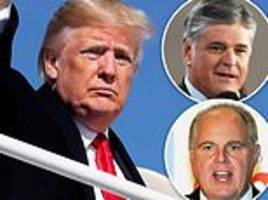 trump to make final campaign pitch with conservative stars sean hannity and rush limbaugh