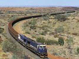 daily briefing: runaway train operated by mining group bhp has to be derailed in western australia