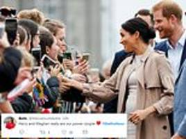 royal fans go wild for documentary about harry and meghan's first royal tour