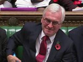 john mcdonnell says theresa may's brexit deal will be like appeasement of hitler
