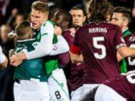 hearts and hibernian charged with mass confrontation after violent scenes marred edinburgh derby