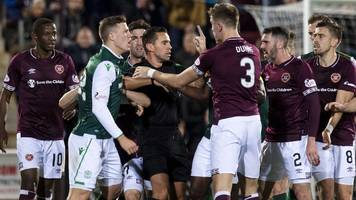 hearts & hibs cited for 'confrontation' during edinburgh derby