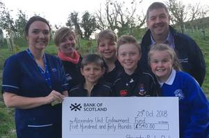 stewartry rfc raise £540 for drgi's alexandra unit with annual ladies' day