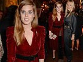 princess beatrice poses alongside kate moss at annabel's charity fundraiser