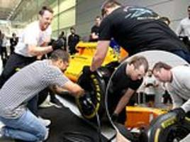 all blacks stars try f1 pit changes as they visit mclaren ahead of england clash at twickenham