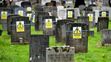 yellow safety signs on plymouth graves 'hideous'