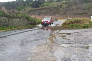 alert of danger of rivers flooding in cornwall after heavy rain overnight