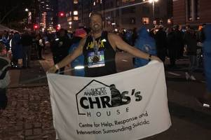 from coltness to queen's: gerry finishes new york marathon for wishaw charity