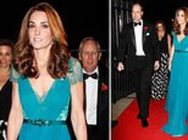 Kate recycles SIX-YEAR-OLD Jenny Packham dress for Tusk awards