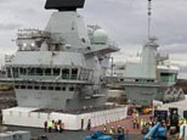 as charles turns 70, work continues on royal navy's new aircraft carrier named after heir to throne