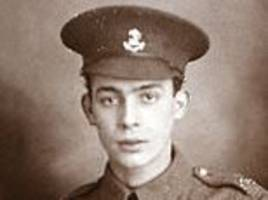 Plumber fought in the First World War and survived both the Somme and Passchendaele