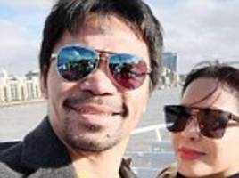 Manny Pacquiao enjoys a London adventure during time off ahead of Adrien Broner fight