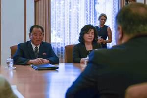 seoul: n. korea asked for postponement of meeting with pompeo