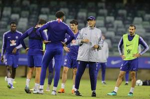 one surprise omission and an unexpected traveller – who trained and who didn't for chelsea