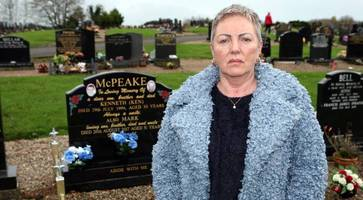 let my brothers rest in peace... ballymena woman hits out at 'heartbreaking' grave vandalism