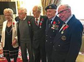 British veterans in their 90s receive France's highest military honour for their role in WWII