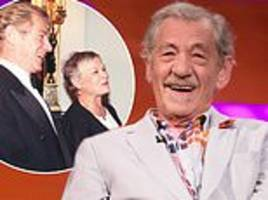 sir ian mckellen reveals he and judi dench sat on the queen's throne in buckingham palace