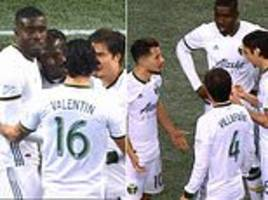 portland timbers players celebrate prematurely after their mls western conference semi-final