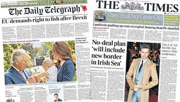paper headlines: eu plans irish sea border and strictly 'row'