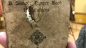 WW1 centenary: Blood-stained prayer book tells story of sacrifice