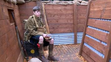 Armistice Day: Replica World War One trench unveiled in Aberdeen