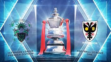 fa cup: haringey borough 0-1 afc wimbledon highlights