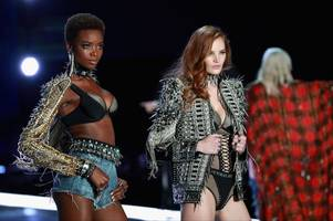 Nottingham catwalk model poses with Kendall Jenner on the runway of Victoria's Secret Fashion Show - calling it 'empowering, sexy and strong'
