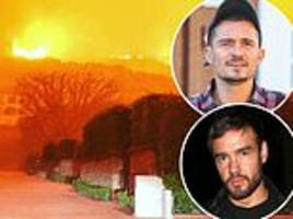 California wildfires: Liam Payne voices fears he will lose his pad and his memories with ex Cheryl