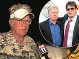 charlie sheen makes desperate plea for info on father martin who is fleeing wildfire in malibu