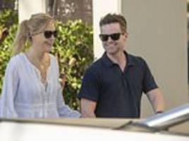 declan donnelly flashes smile with wife ali astall in australia ahead of i'm a celebrity return