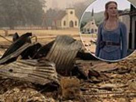 paramount production set destroyed by a wildfire in northern california