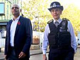 sajid javid and met chief cressida dick visit south london after she slammed home office
