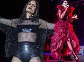 jessie j slips into an array of sultry stage outfits on r.o.s.e european tour