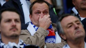 emotional scenes as leicester draw in first home game since helicopter crash