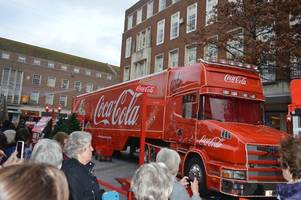 the coca cola truck has arrived in exeter