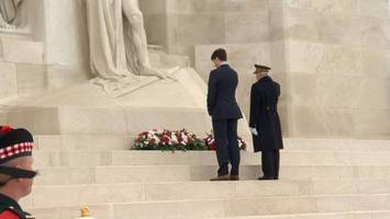 Germany's Merkel, France's Macron in emotional show of unity a century after WWI