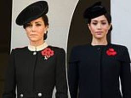 meghan and kate they pay their respects at the cenotaph