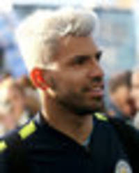 sergio aguero hair: man city striker shows off new silver hairdo in man utd clash