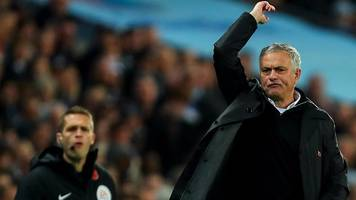 manchester city 3-1 manchester united: jose mourinho praises performance with 'mistakes'