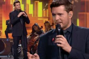michael buble worries x factor fans after not 'seeming like himself' on stage